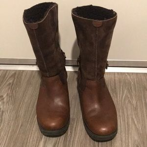 Ugg Brookfield Brown Leather/Suede Boots - Size 8